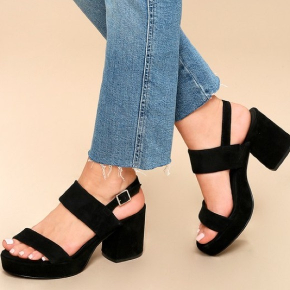 8e77ceda6326 Steve Madden black Suede Reba dress heel sandal